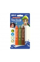 AM FD5B3B: Amos Face Deco 3 Colours - Orange + Khaki + Brown