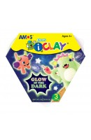 AM IC18P3GD: Amos I Clay Set - Glow In the Dark