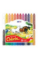 AM CRX5PC24: AMOS COLORIX SILKY CRAYON 24 COLOURS
