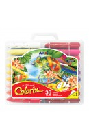 AM CRX5PC36: AMOS COLORIX SILKY CRAYON 36 COLOURS