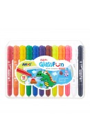 AM GF12PC: Amos Colorix Glass Fun Multi Crayons - 12 Colours