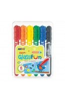 AM GF6PC: Amos Colorix Glass Fun Multi Crayons - 6 Colours