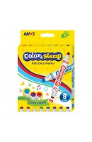 AM CS8P: Amos Colour Marker with Stamp