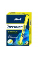 AM HLD12D-YL: Amos Dry Highlighter - Yellow